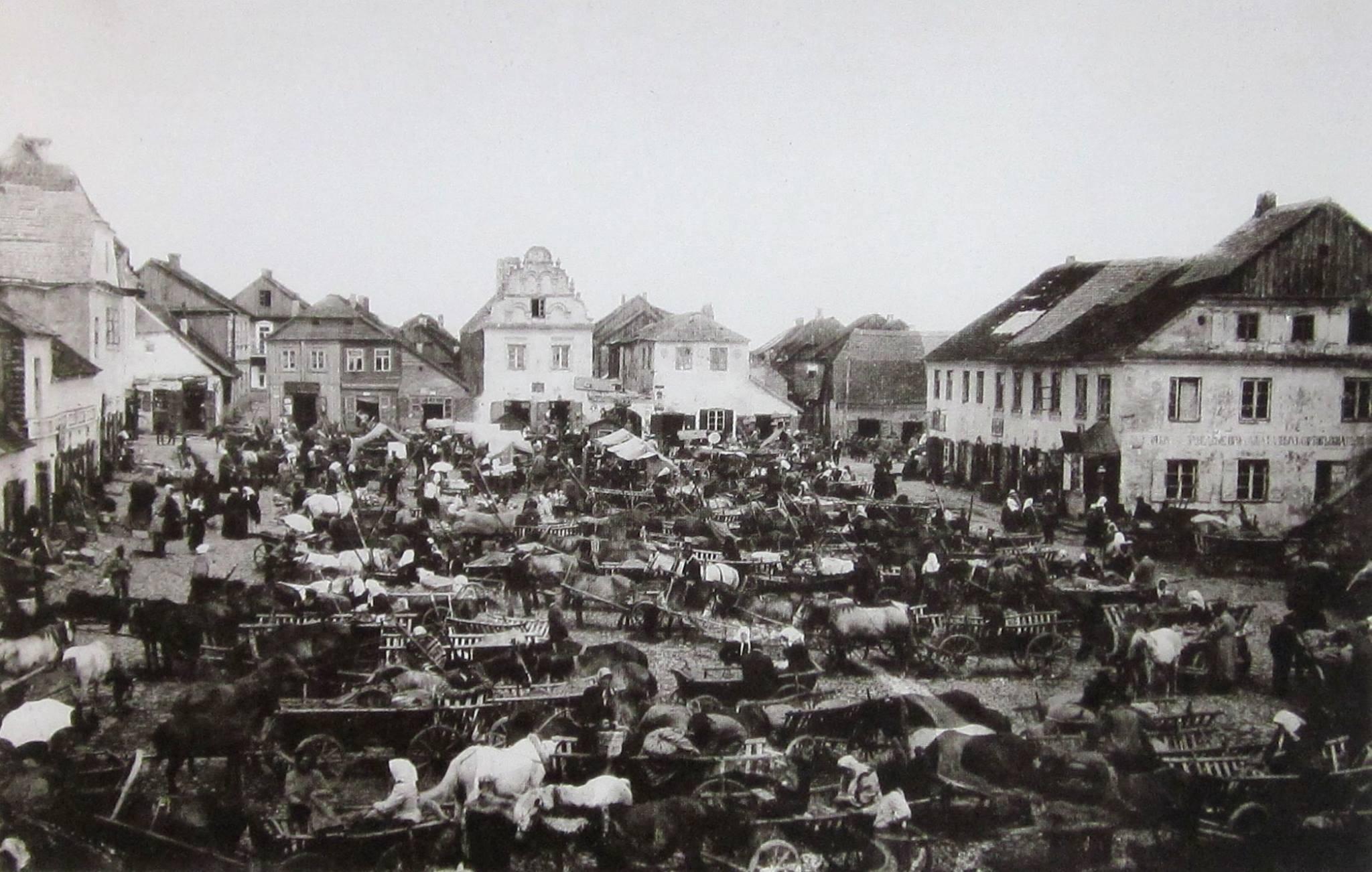 Keidan market square, 1910s