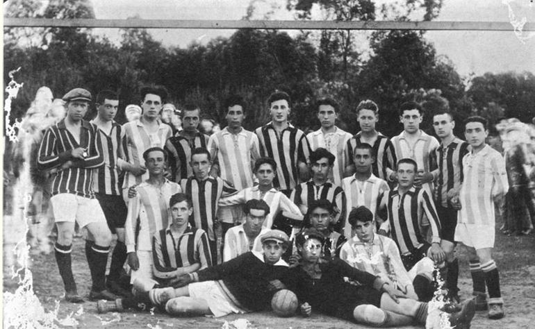 A Keidan Jewish soccer club.